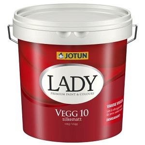 Lady vegg 10 vanntynnet akrylmaling