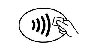 Kontaktløs betaling symbol