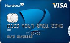 Bankkort med kortnummer synlig