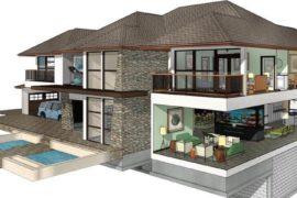 Hus tegnet med tegneprogram