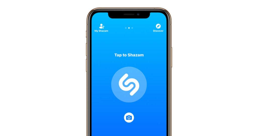Shazam app på iphone