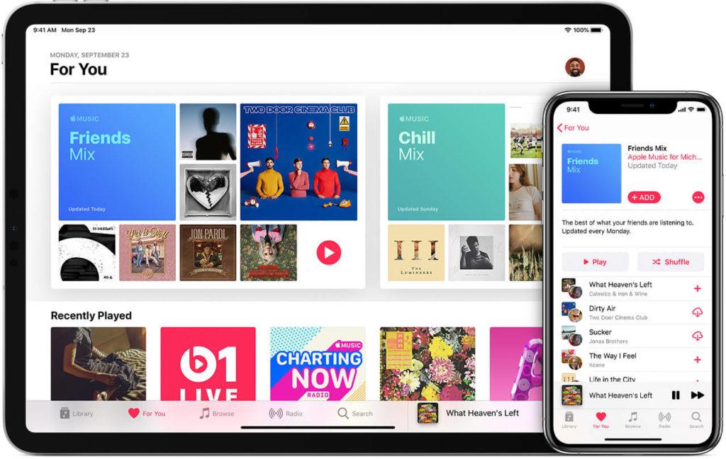 Apple music mockup