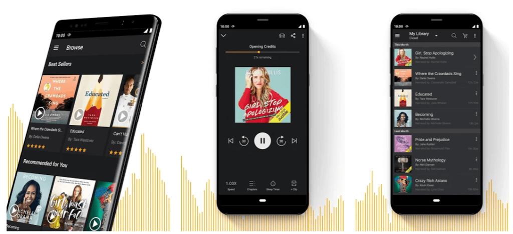 Audible lydbok app skjermbilde