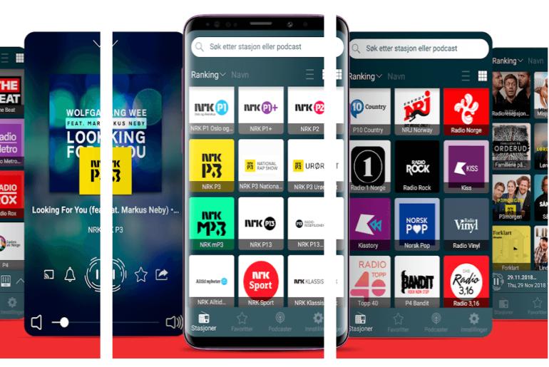 Skjermbilder fra radio norge appen