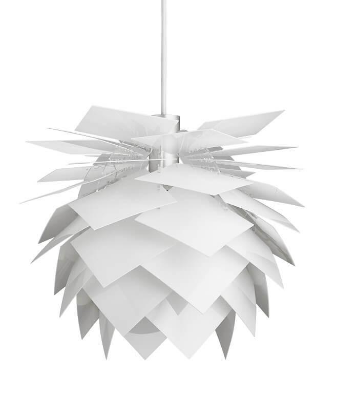 kongle lampe hvit