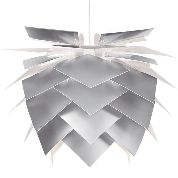 Kongle lampe aluminium