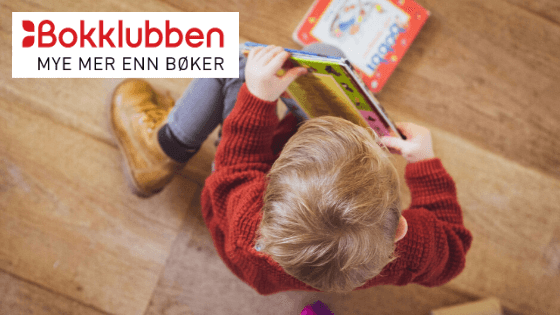 Bokklubben Barn illiustrasjonsbilde med logo