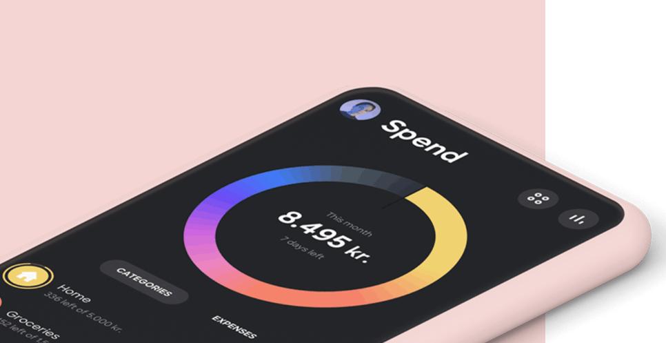 Lunar app mockup iphone lys farge