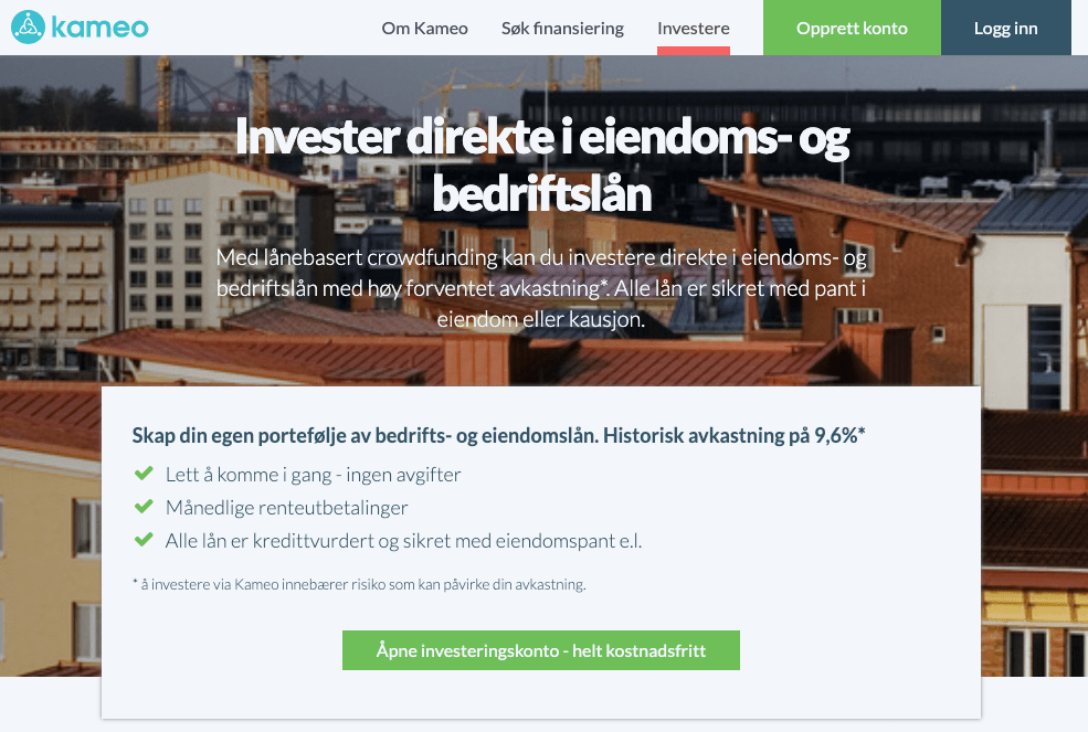 Kameo.no hjemmeside