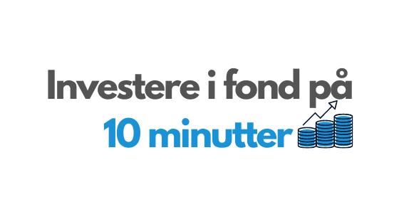 Investere i fond nå - header