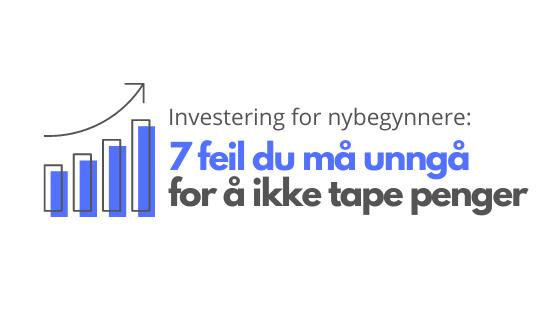 Investerings-feil illustrasjon