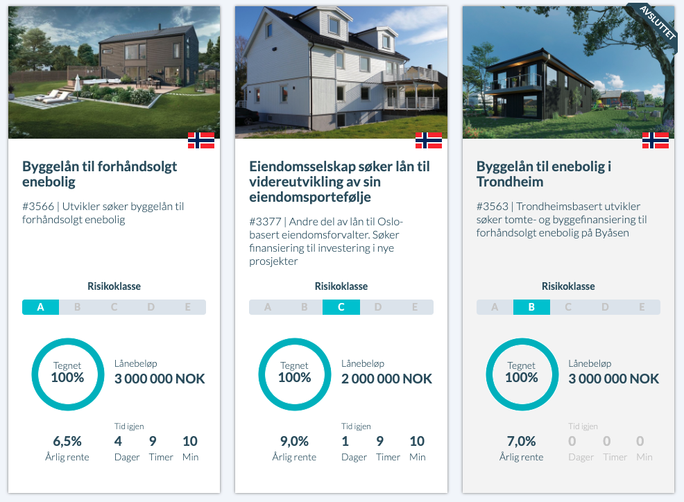 Kameo investering skjermbilde
