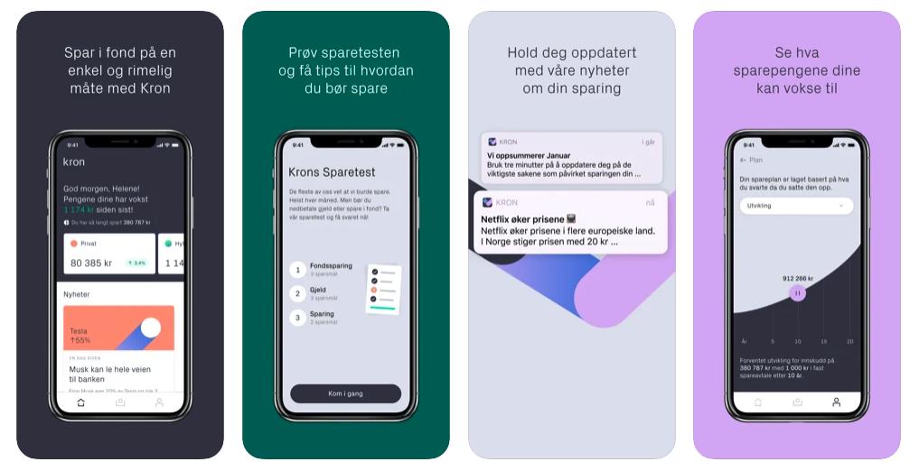 Kron app skjermbilder