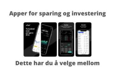 investerings-apper og spare-apper