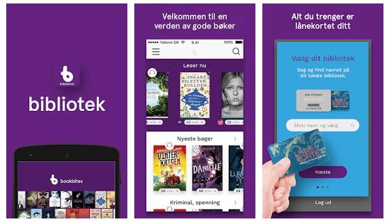 Skjermbilde av Bookbites - bibliotekets gratis lydbok-app