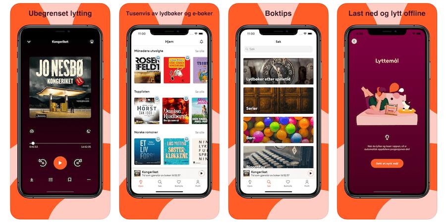 Storytel lydbok app skjermbilde