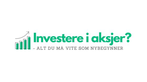 Investere i aksjer - tekst og ikon - fremhevet bilde