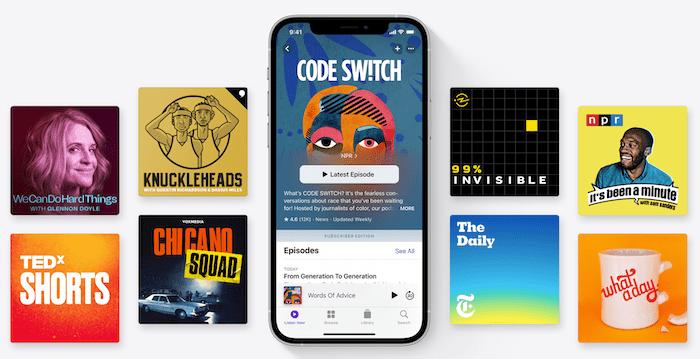 Skjermbilde av apple podcast