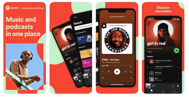Skjermbilde av podcast hos spotify